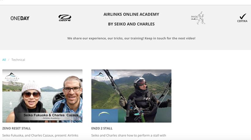 airlinks academy charles cazaux seiko fukuoka private course cours privé parapente paragliding